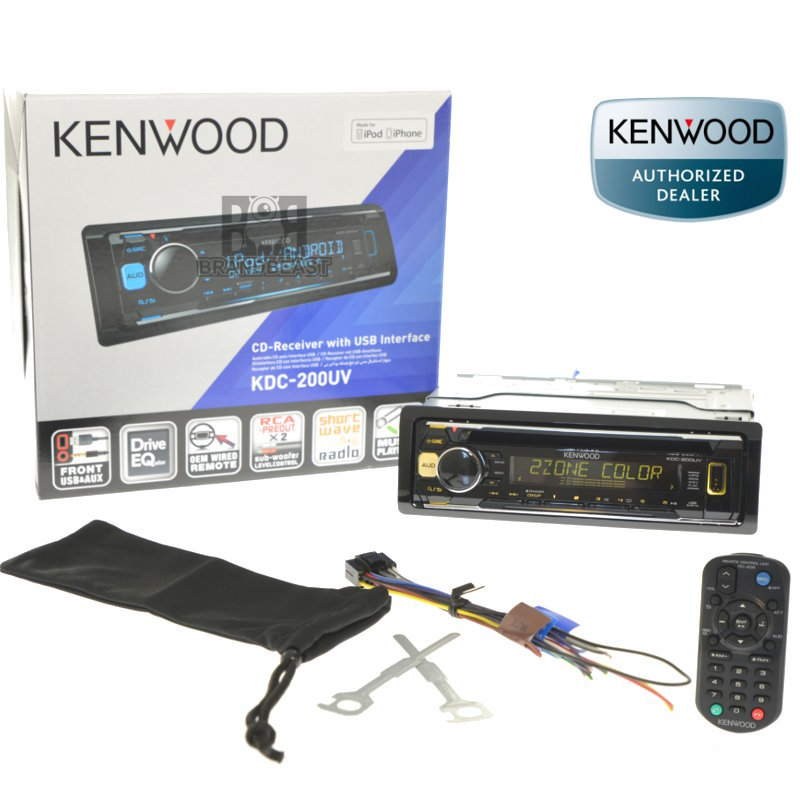 kenwood kdc 200uv kenwood cd usb aux unit ipod android multi color