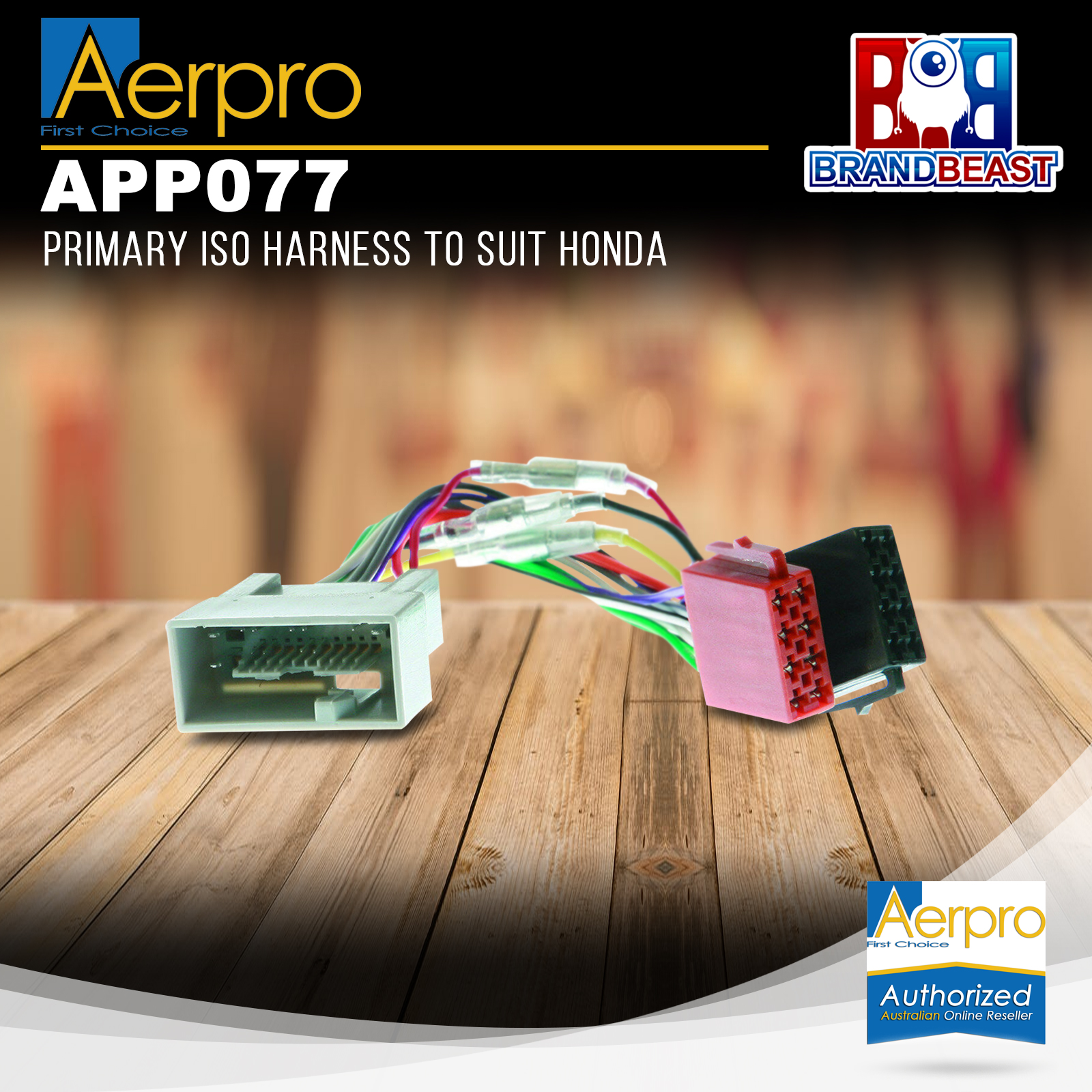 Details about Aerpro APP077 Primary ISO Harness to Suit Honda on