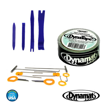 DYNAMAT 13100 DYNATAPE BLACK ALUMINIUM FINISHING TAPE CAR SOUND DEADING + TRIM