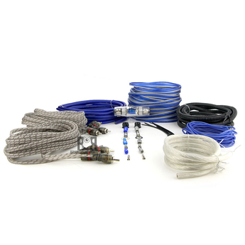 HYPER CONNECTIONS B8K4C 8 GAUGE (4 CHANNEL) BLUE - KIT