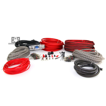 HYPER CONNECTIONS R8K4C 8 GAUGE (4 CHANNEL) RED - KIT